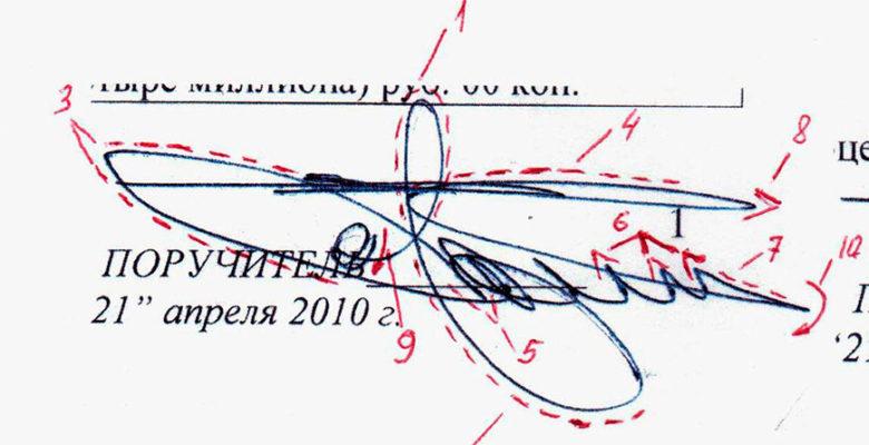 Изображение почерковедческой экспертизы